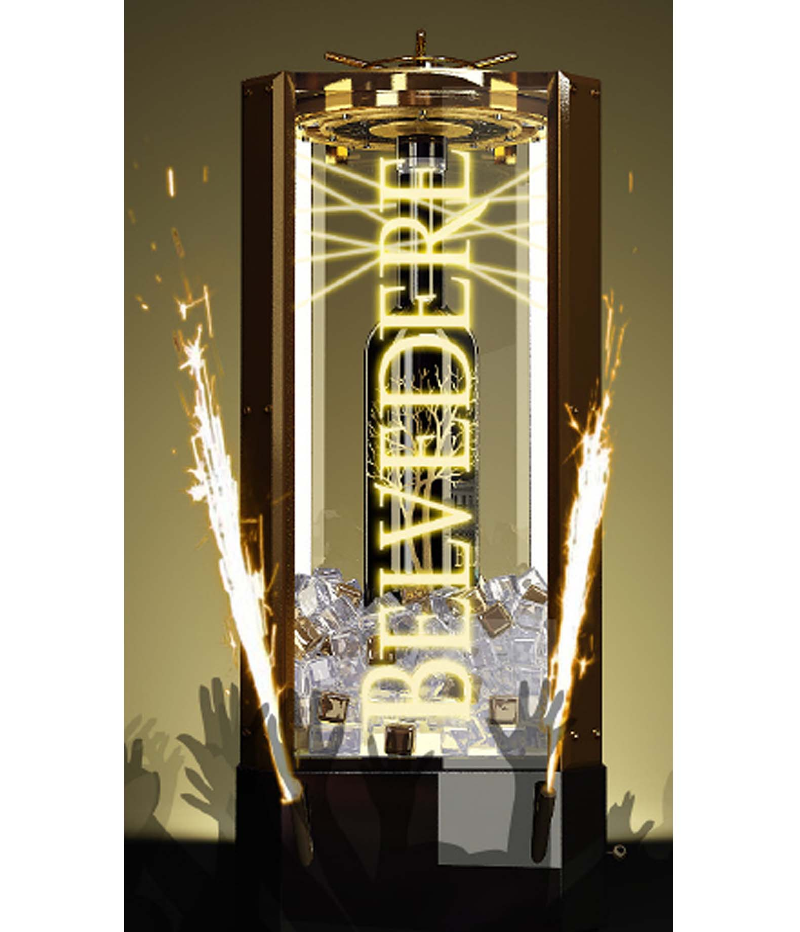 Bar Items - Illuminated Rotating Back-Bar/Ice Bucket