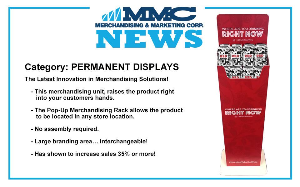 MMC Announces a NEW and Innovative Merchandising Rack – POPUP!
