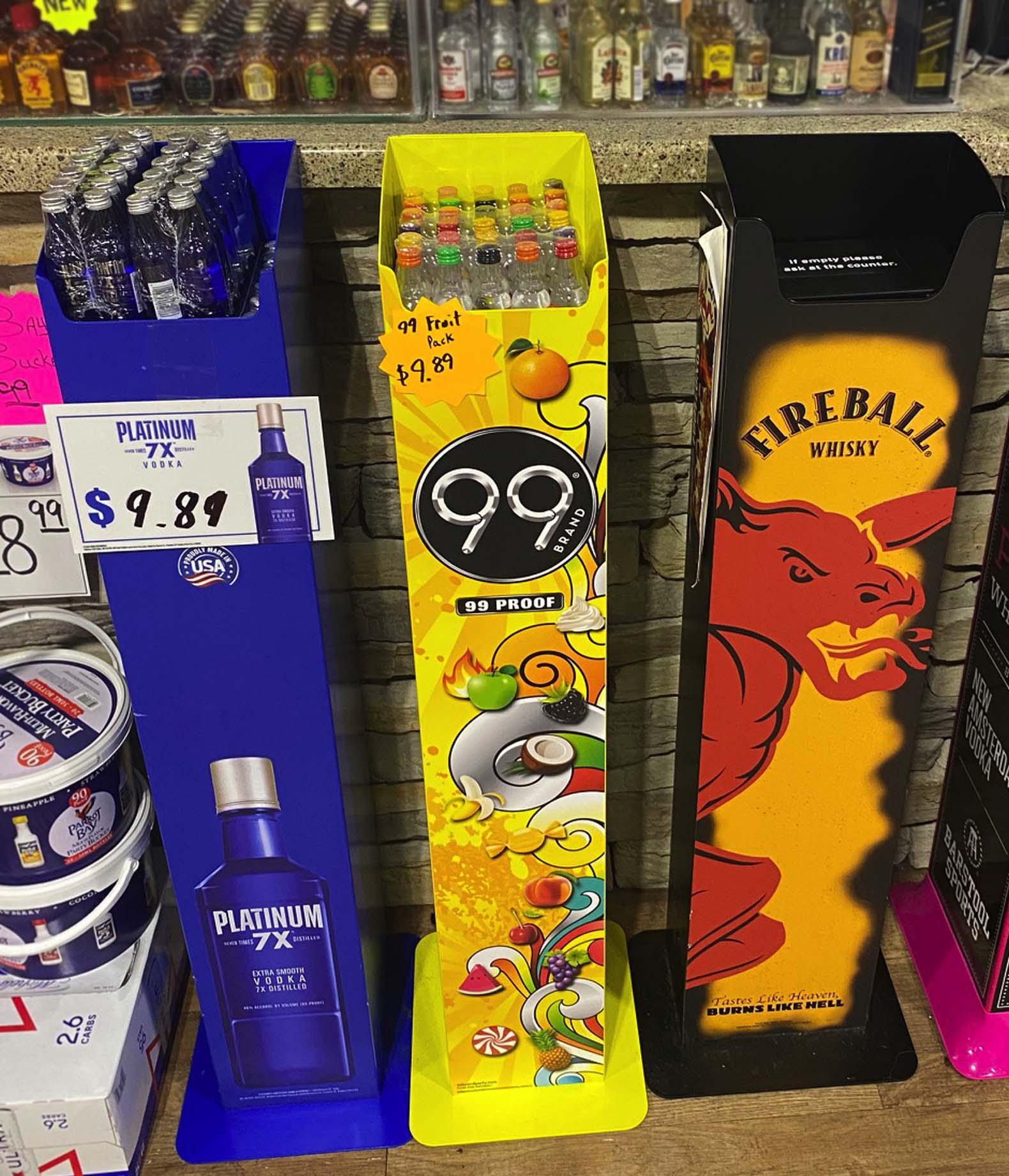 Popup Merchandising Rack